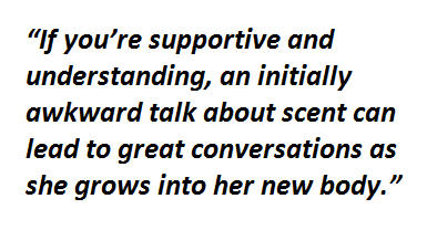 A quote explaining that if you are supportive when talking to your  teens can help them grow